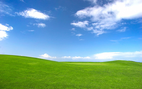 "Microsoft used this photo titled ""Bliss"" for the default wallpaper on its XP operating system. Photo by Charles O'Rear."