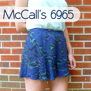 McCall's 6965 Skirt to Culottes Refashion by Hey, It's SJ