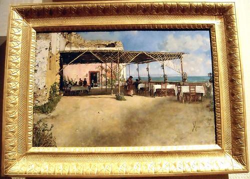 """Tavern at Posillipo"" (1886) by Vincenzo Migliaro (Naples 1858-Naples 1938) - The Museum of Zevallos Stigliano Palace in Naples"