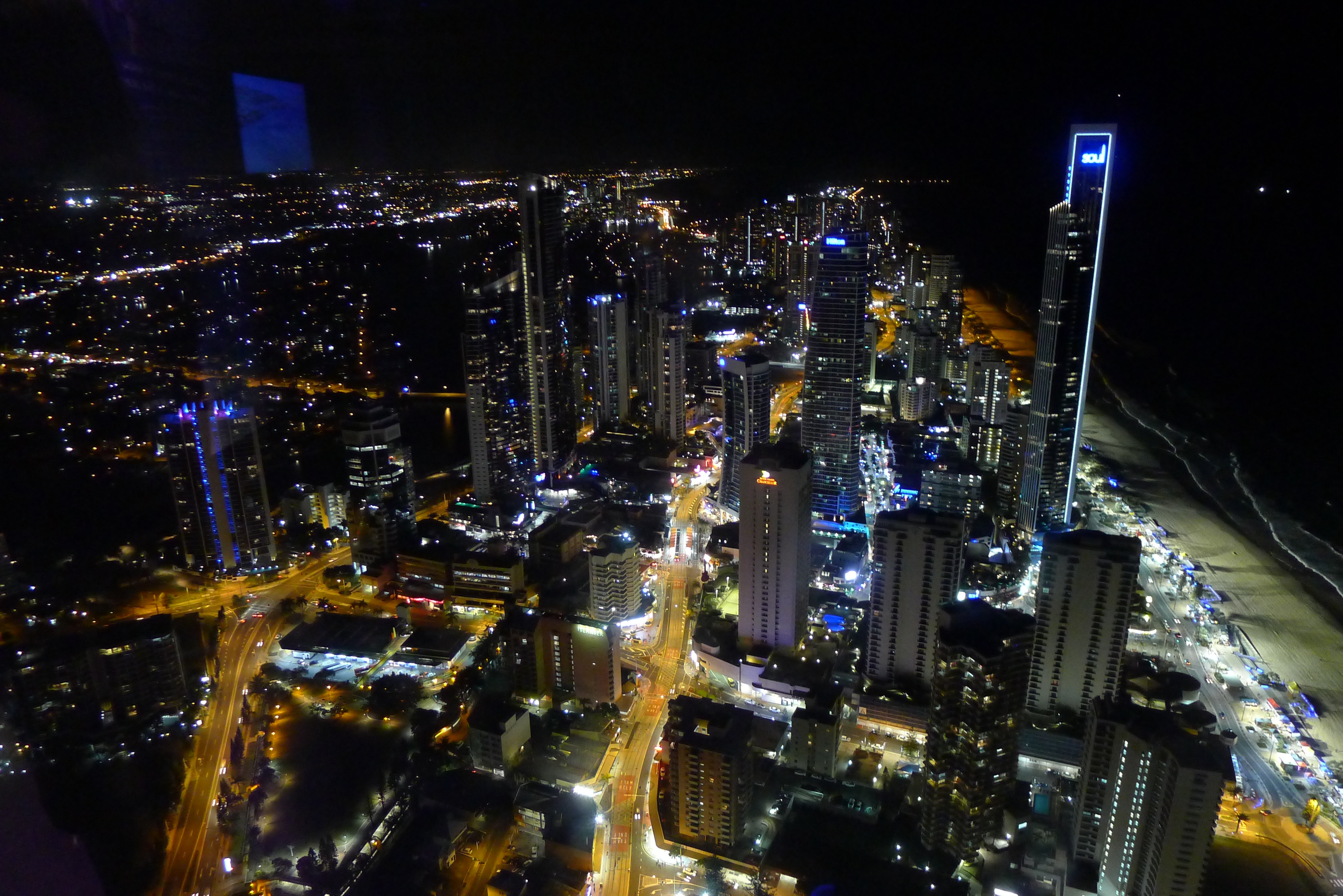View of Gold Coast from Observation Deck