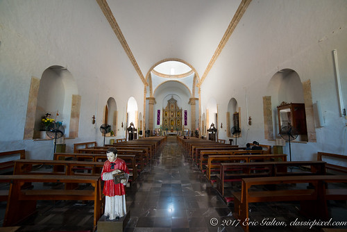 Inside the Cathedral of Valladolid, Yucatan, Mexico