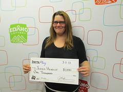 Jessica Hendley - $1,000 - InstaPlay Bingo - Gooding - Steve's Quick Service