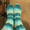 Kew Socks.  Knitpicks Felici Nassau Colorway