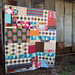 chaos quilt finished by StitchedInColor