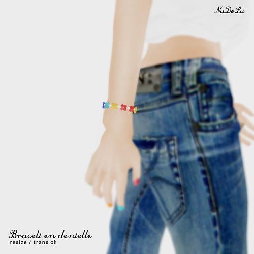 NuDoLu Bracelet en dentelle AD2