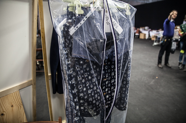 Denim jacket at Diesel Fall Winter 2014 backstage