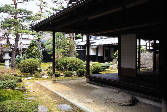 garden in Samurai residences