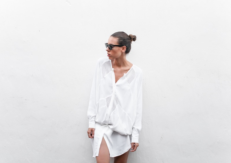 modern legacy blog Australia fashion street style Blessed Are The Meek white shirt dress beach Ray Ban Oversized Wayfarers blogger outfit style off duty (1 of 6)