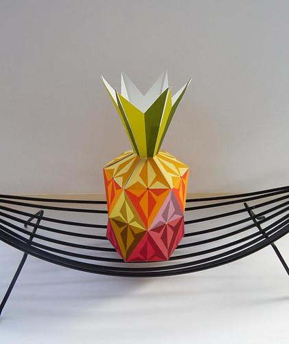 Folded-Paper-Pineapple