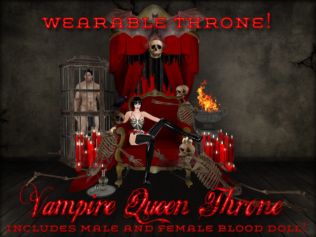 Wearable furniture collection-Vampire Queen Throne