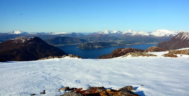 Storfjorden og Ørskog fra Vardefjellet