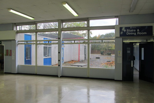 Ewing School hall (towards playground)