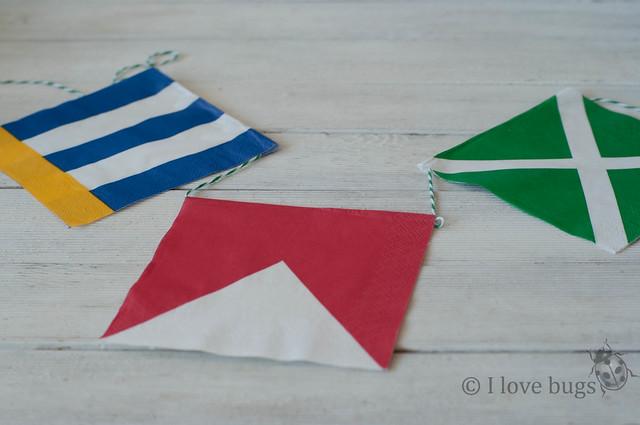 I love bugs guirnaldas hechas con servilletas de papel for Decoracion marinera ikea