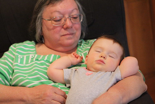 Nana and Sleeping Evelyn
