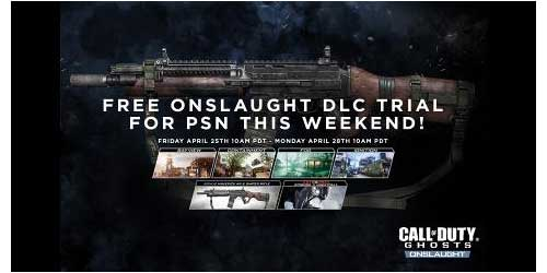 Call of Duty Ghosts Onslaught DLC free to play on PSN over the weekend