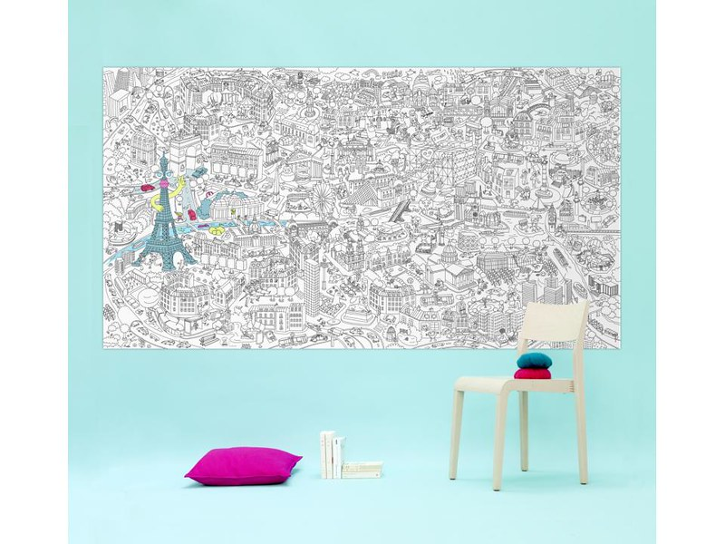 OMY PARIS giant colouring poster