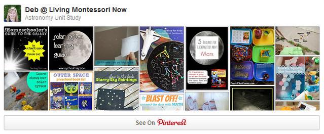 Astronomy Unit Study Pinterest Board