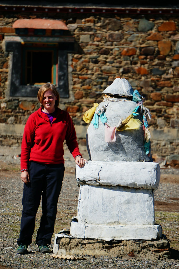 Annemarie with mini stupa