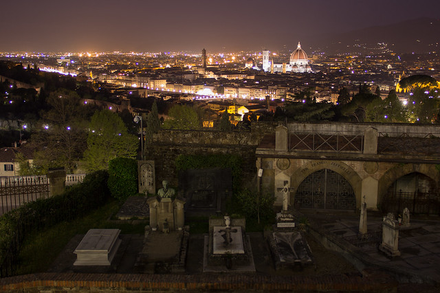 An Unusual View of Florence at Night
