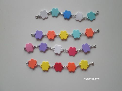 braccialetti gomma crepla fiori
