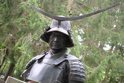 Masamune Date bust statue 01