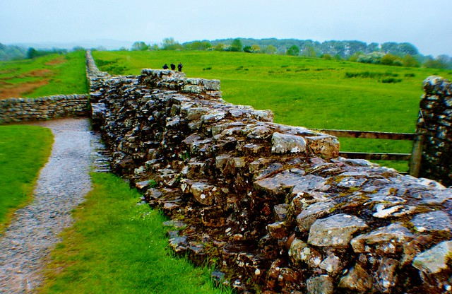 Hadrian's Wall at Birdoswald, England