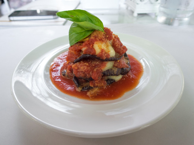Lasagna with eggplant
