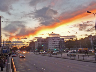 Apocalyptic sky over Riga