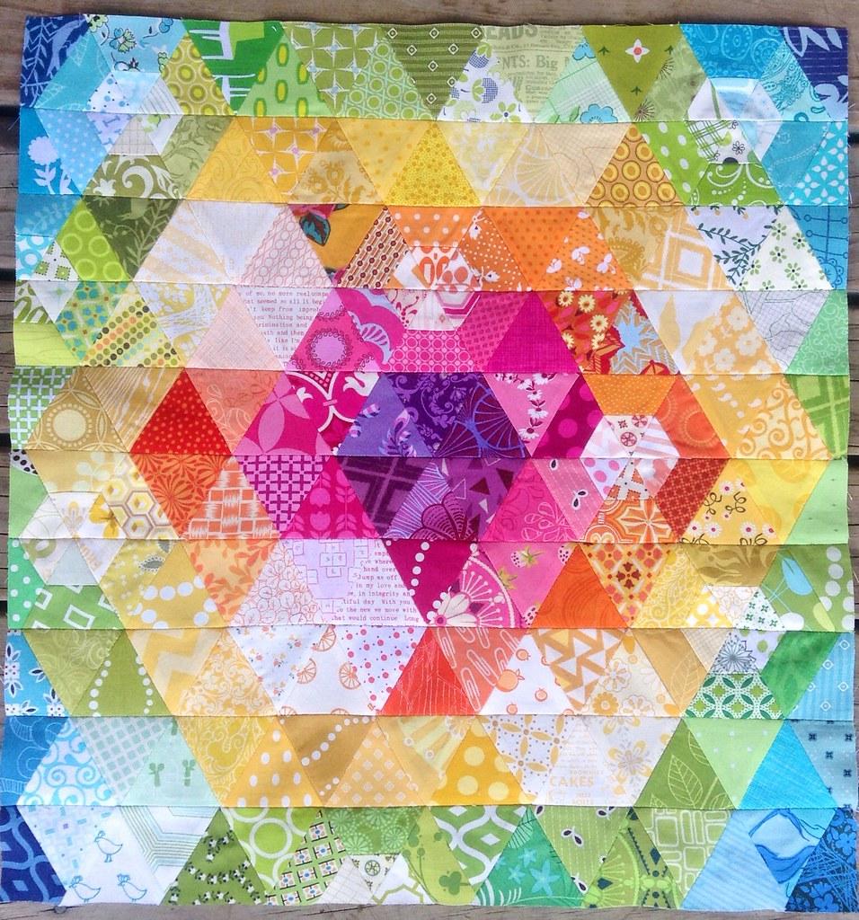 Patchwork Prism mini quilt