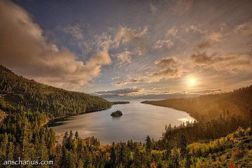 Sunrise at Emerald Bay #1 - Nikon D800E & AF-S VR 4/16-35mm & B&W ND1000