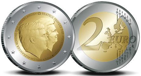 2 Euro Holandsko 2014, Dvojitý portrét