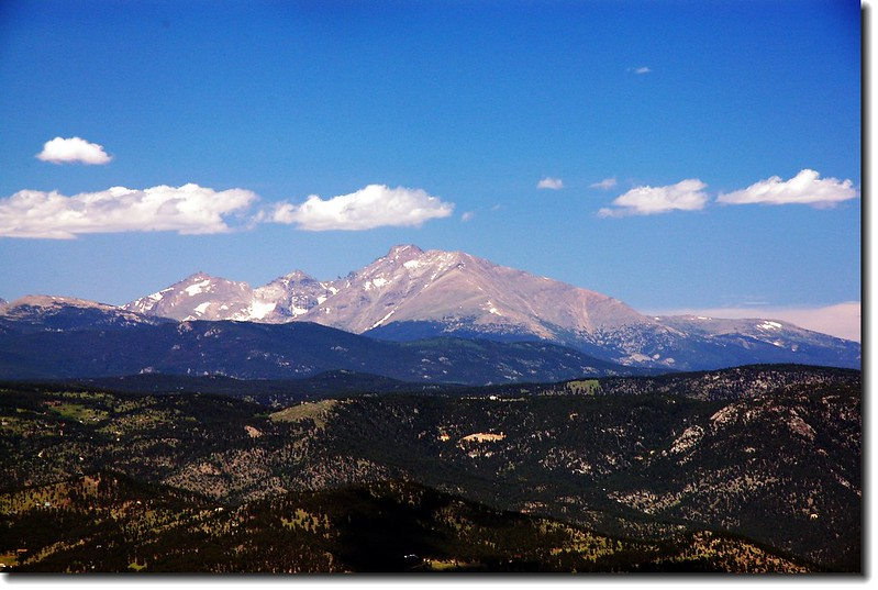Longs Peak from the trail on the west side of Bear Peak 2
