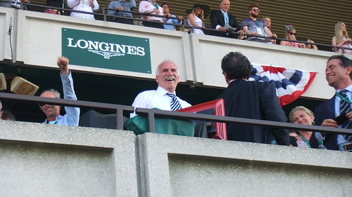 #SnapShot | #BlackHawks Coach Joel Quenneville Was In The House! Right Before For The #BelmontStakes
