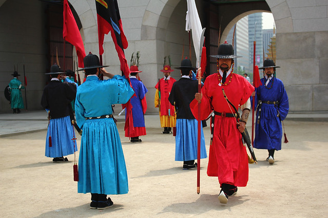 Changing of guards - Gyeongbokgung Palace - Seoul