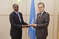 NEW PERMANENT REPRESENTATIVE OF RWANDA PRESENTS CREDENTIALS