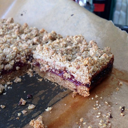 Strawberry crumble bars from @KimBoyceBakes recipe - using my homemade jam