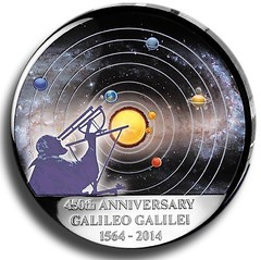 Galileo curved coin