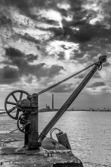 A view of Dublin from poolbeg lighthouse, Dublin, Ireland