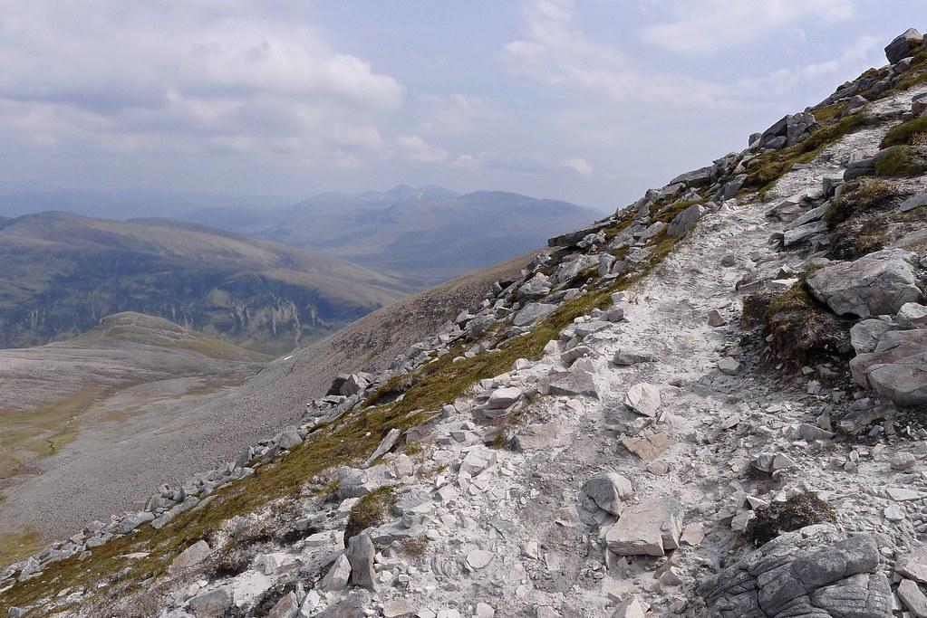 The Fannaichs from the upper quartzite slopes of Mullach Choire Mhic Fhearchair