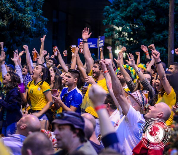 Fans Cheer for Goal at World Cup 2014