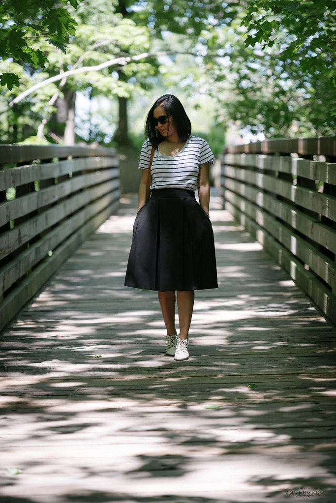 stripes and midi skirt 02