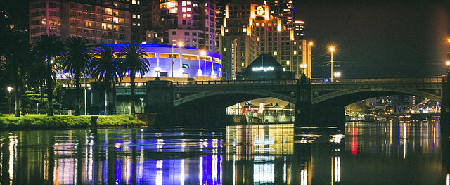 Yarra river by night