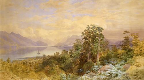 011- Lago Te Anau-Gully, John (artist), 1888, New Zealand-Museo Te PapaTongareva