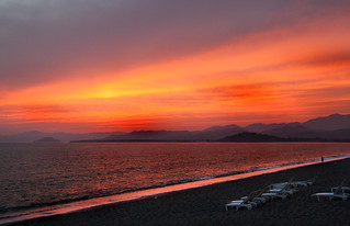 Image of Koca Çalış Plajı near Fethiye. sunset orange beach canon turkey calisbeach