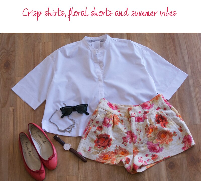 floral-zara-shorts-cropped-shirt