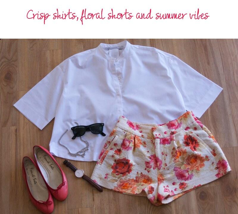 floral-zara-shorts-cropped-shirt