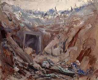 Dug Out on the Somme / Abri sur la Somme