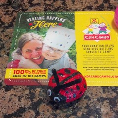 I have never heard of KOA Care Camps for kiddos diagnosed with cancer. $5 donation and we take home a ladybug rock. <3