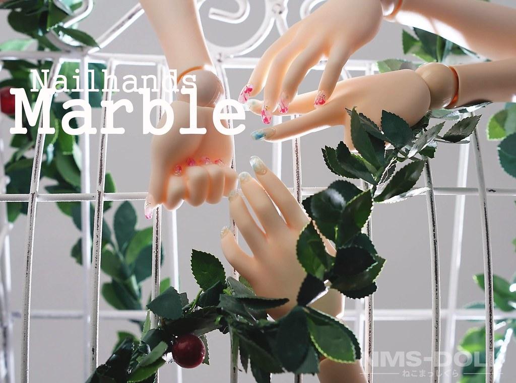 ネイルハンドMarble