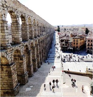 Bild av Acueducto de Segovia nära Segovia. city cidade españa stone spain espanha europa europe ciudad segovia espagne pedra piedra patrimonio castillayleon castillaleon